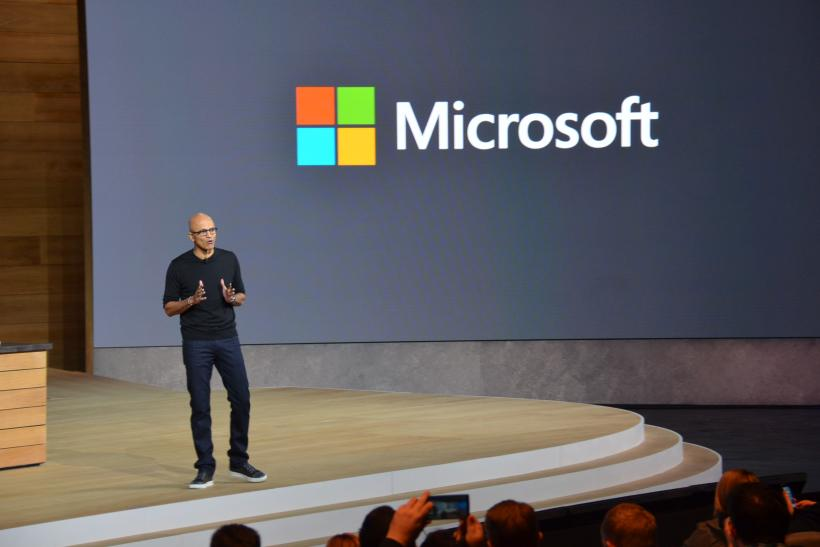 Nadella on stage