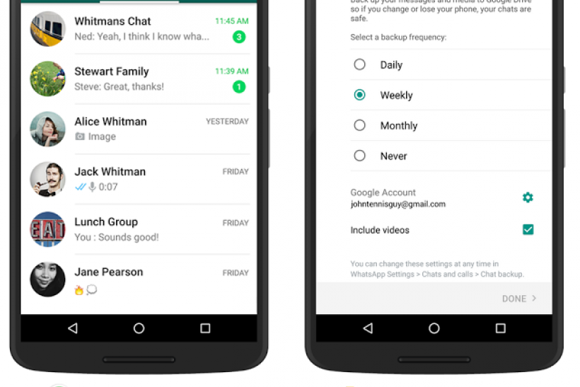 Google Drive support for WhatsApp for Android