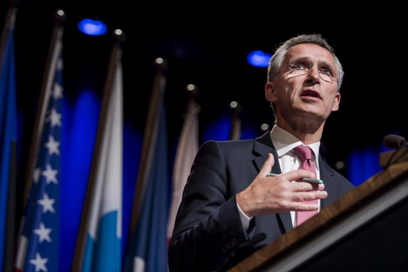 NATO Secretary-General Addressing a crowd