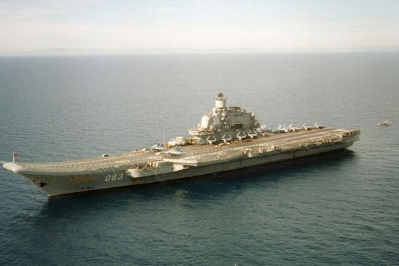 The Admiral Kuznetsov underway