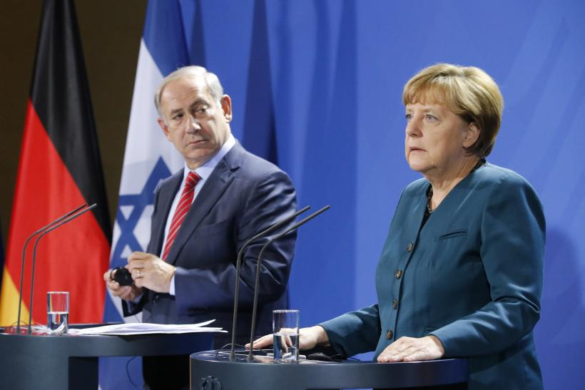 Benjamin Netanyahu and Angela Merkel