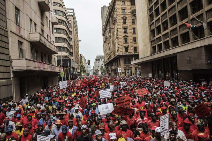 South Africa economy protest