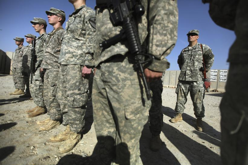 U.S. troops handover to the Iraqi military during a ceremony in Iraq