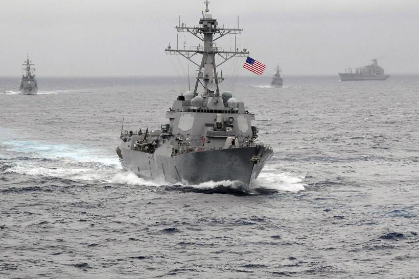 The USS Lassen sails through the Pacific Ocean