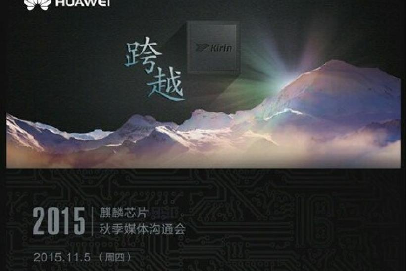 Huawei launch event on Nov