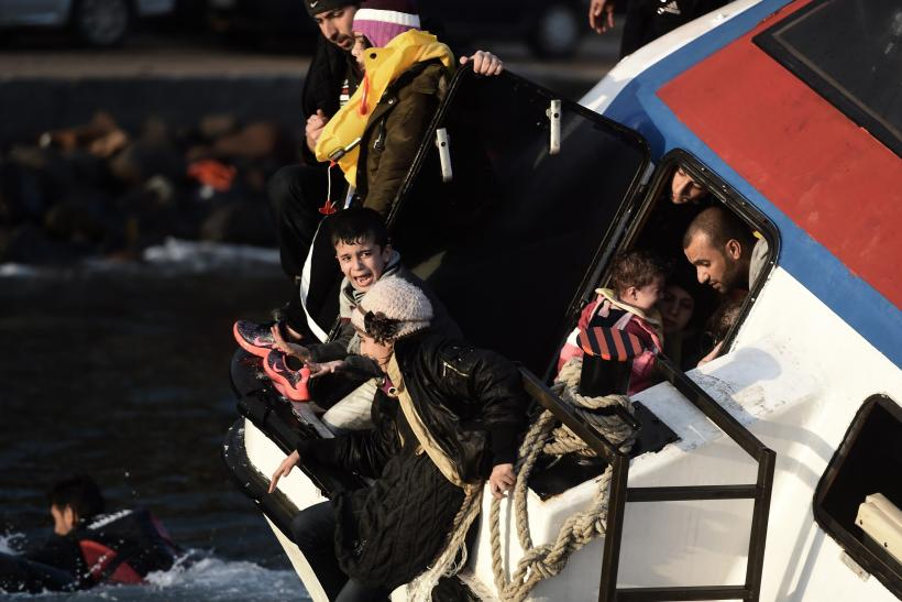 Greece boat Europe refugee crisis