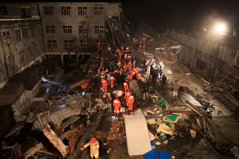 china building collapse Henan province