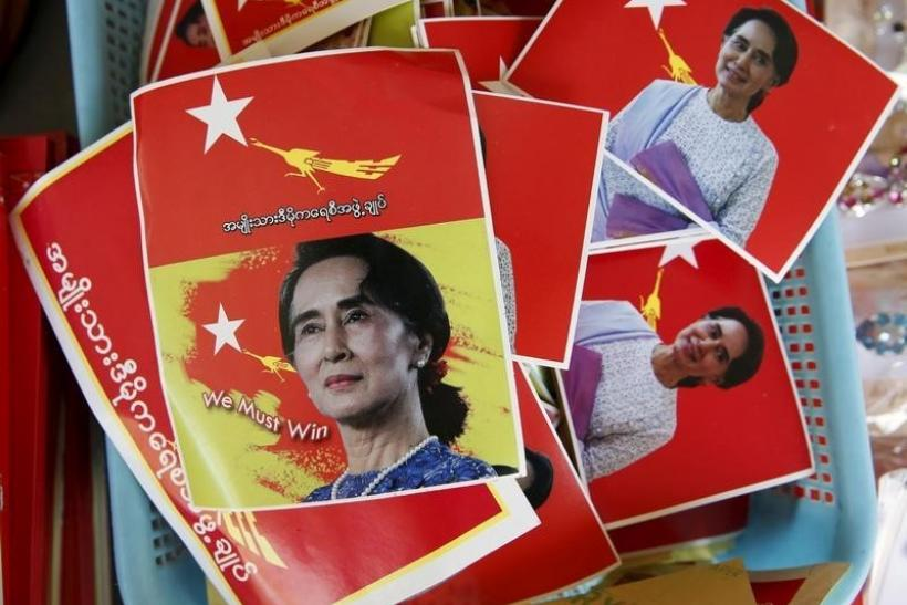 Aung San Suu Kyi Stickers, Nov. 5, 2015