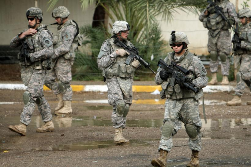 U.S. soldiers on patrol in Iraq.