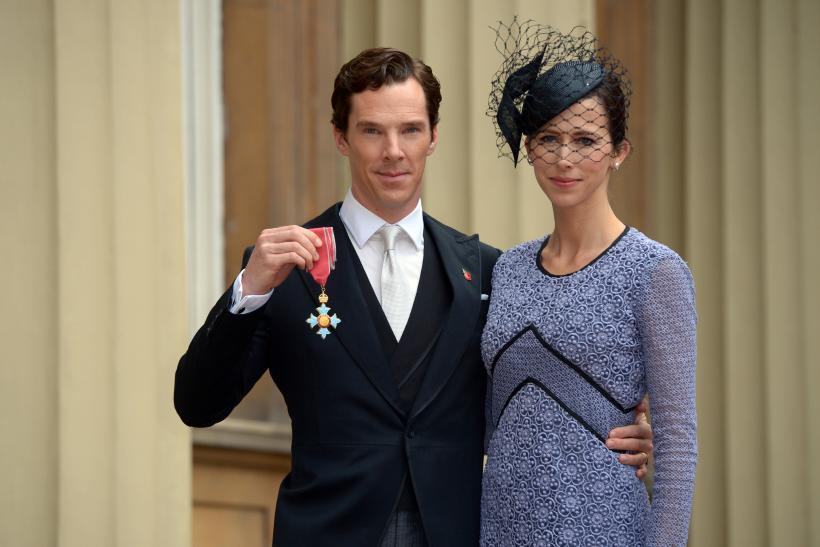 [08:27] Actor Benedict Cumberbatch with his wife Sophie Hunter