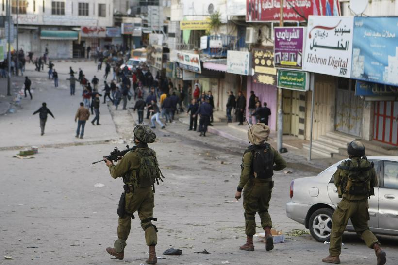 Israeli soldiers in the West Bank.
