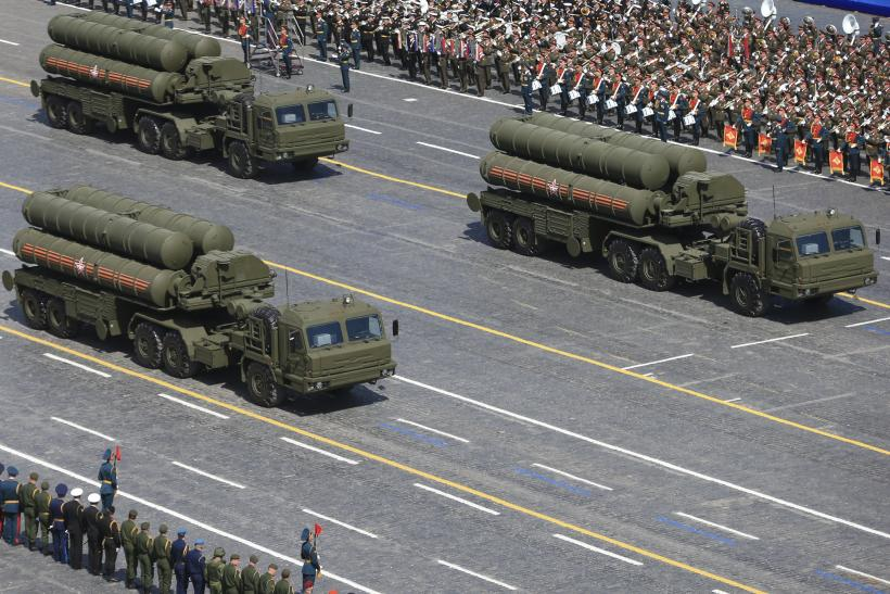 The S-400 missile defense system on parade