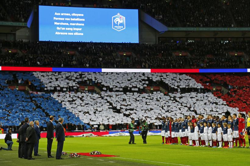 VIDEO England vs  France: Fans Unite To Sing French National Anthem