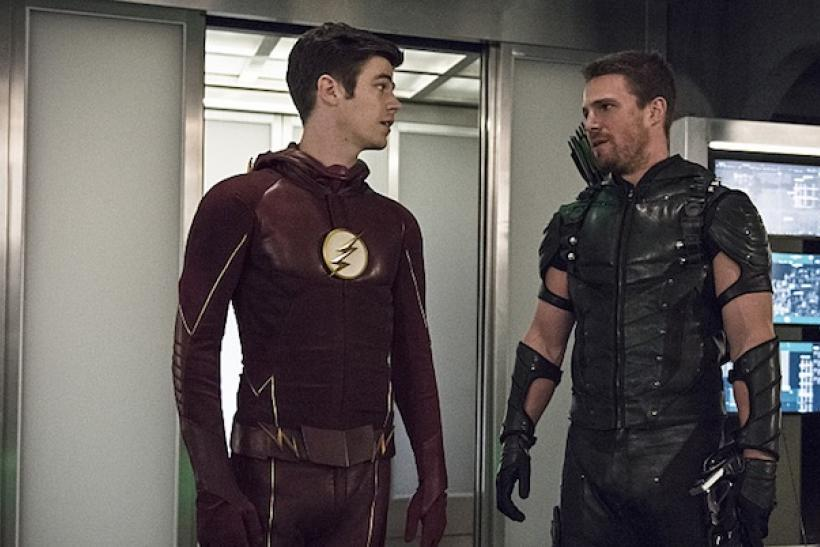 Image result for oliver queen and barry allen