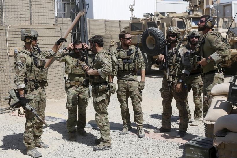 U.S. Special Forces troops before a patrol