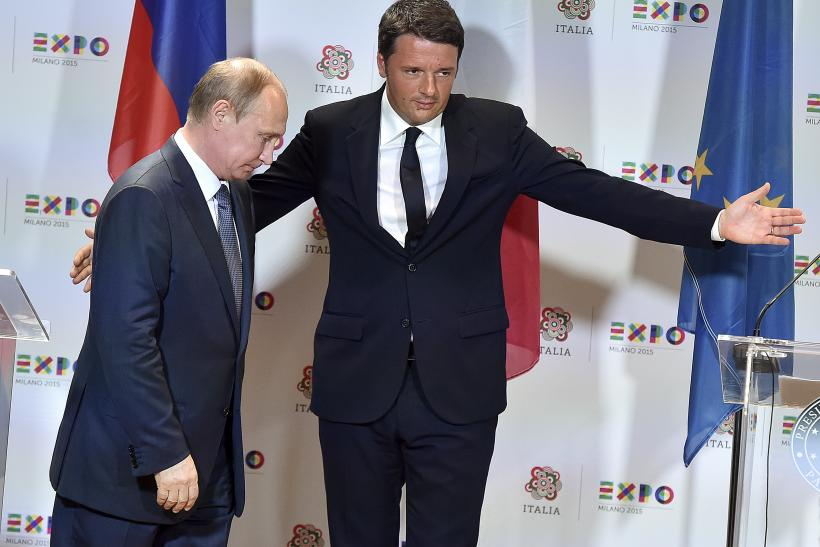 The leaders of Italy and Russia meet