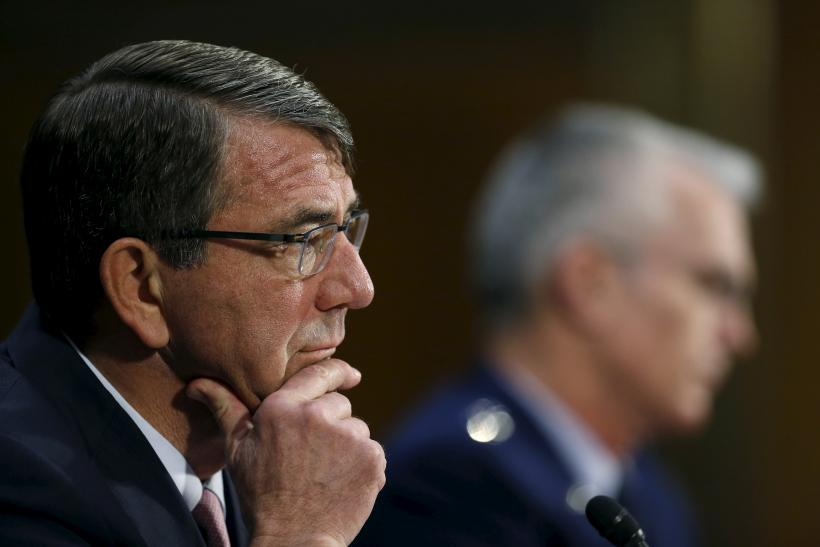 Secretary of Defense Ash Carter testifying