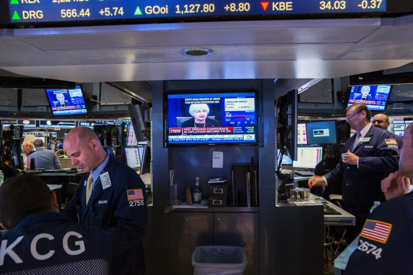 New York Stock Exchange and Janet Yellen, Sept. 17, 2015