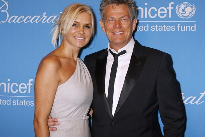 Yolanda Hadid (L) and David Foster