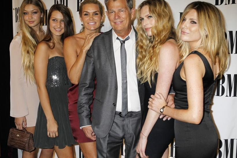 David Foster and Yolanda Foster along with daughters Gigi, Bella, Erin and Jordan