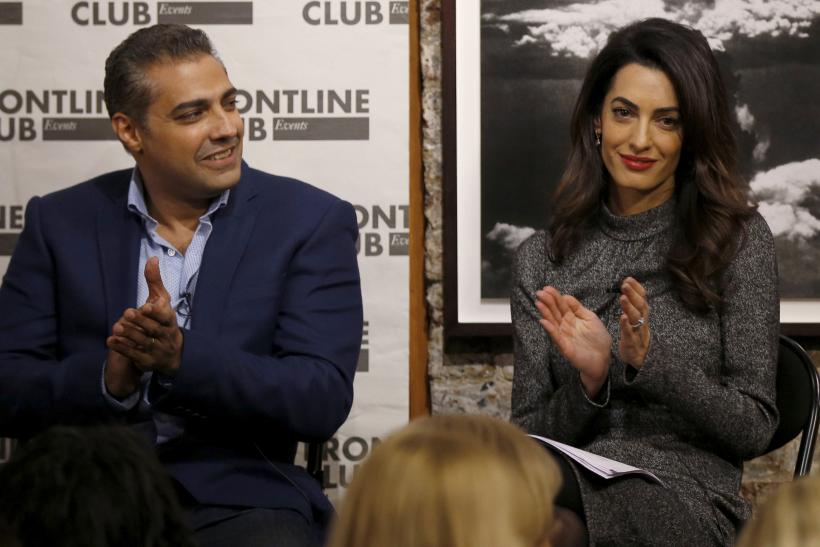 Lawyer Amal Clooney and Canadian journalist Mohamed Fahmy