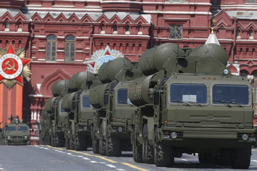 The S-400 missile defense system on parade in Moscow.