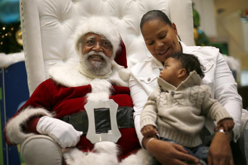 African-American Santa Claus, Los Angeles, Dec. 16, 2013