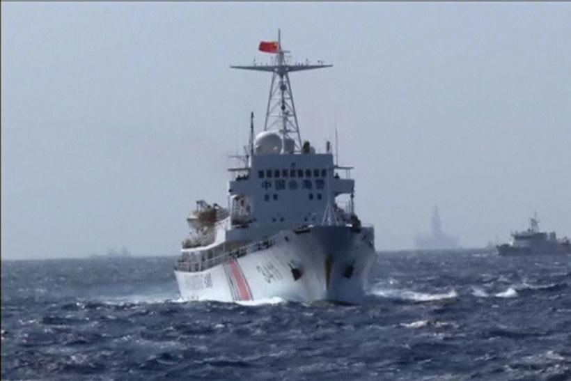 Chinese Coastguard ship patrols the South China Sea