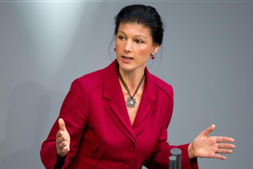 German Parliament Member Sahra Wagenknecht Criticizes Country's Role In Syrian War