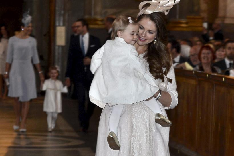 Sweden's Princess Madeleine and her daughter Leonore