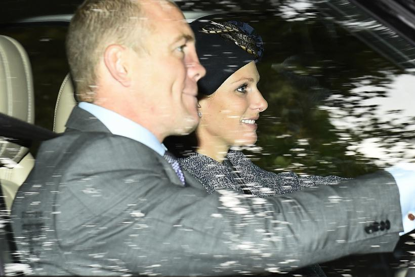 Britain's Zara Philips and her husband Mike Tindall