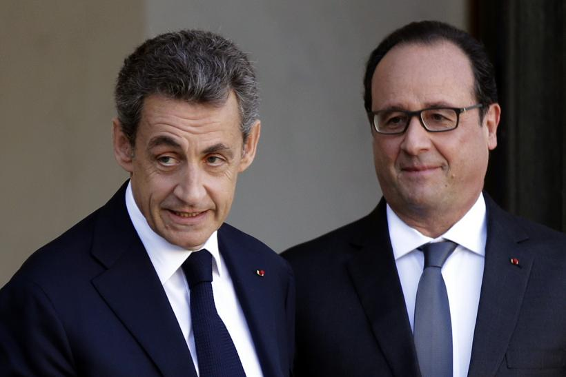 Francois Hollande and Nicolas Sarkozy, Paris, Nov. 15, 2015