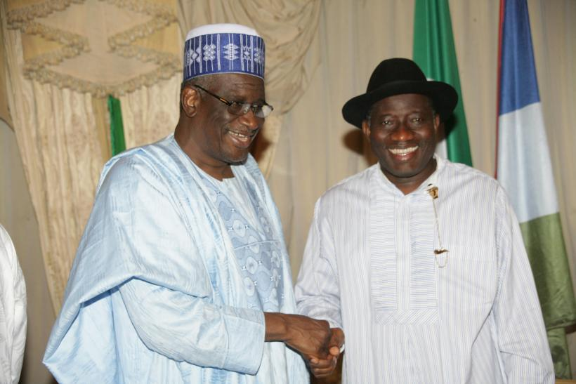 Haliru Mohammed Bello and Goodluck Jonathan