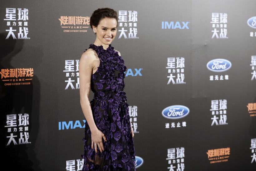 "Daisy Ridley, ""Star Wars: The Force Awakens,"" Shanghai, Dec. 27, 2015"