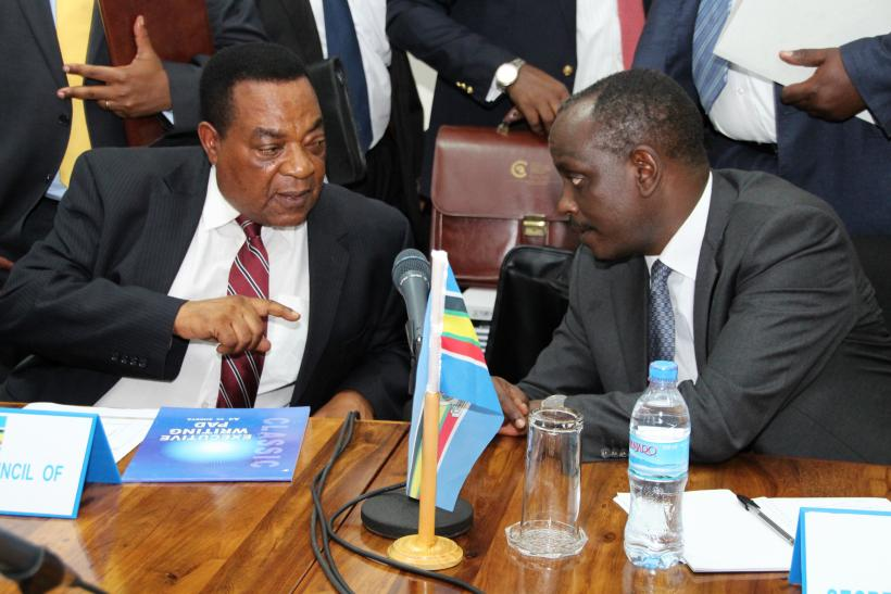 Augustine Mahiga and Richard Sezibera