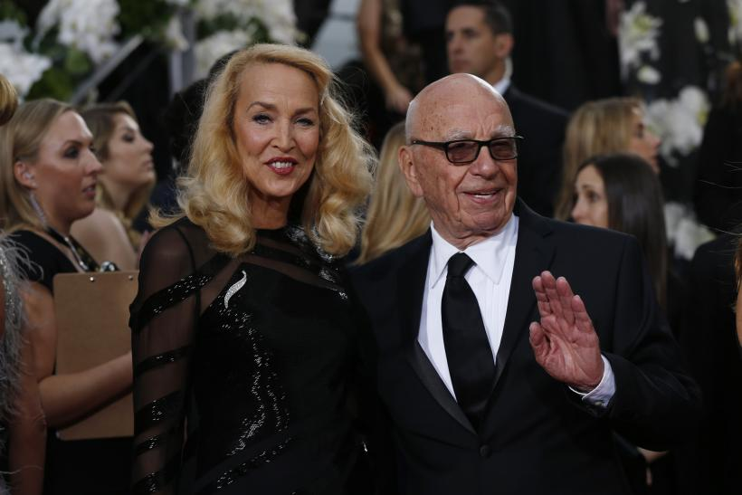 Model Jerry Hall and media magnate Rupert Murdoch