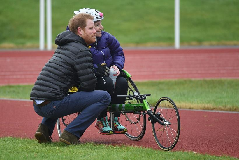 Prince Harry Helps Fallen Woman