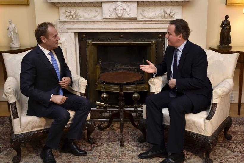 Donald Tusk and David Cameron discuss the U.K.'s possible Brexit