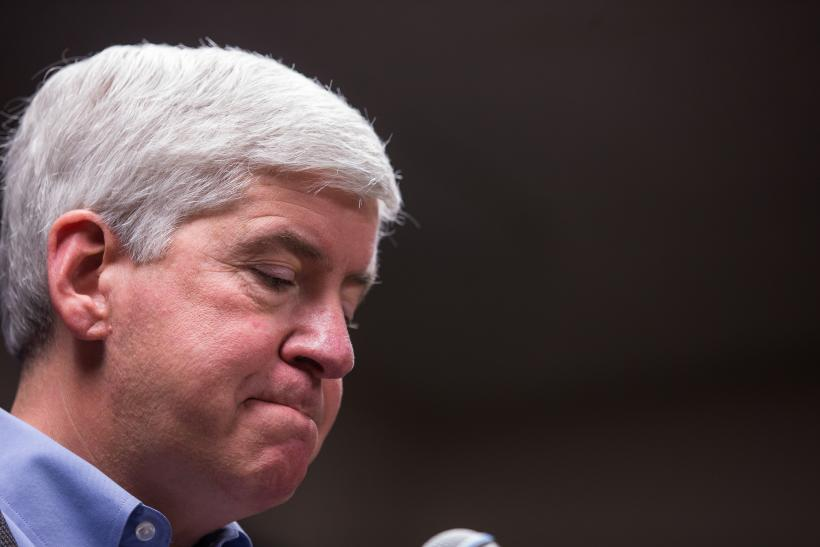 Michigan Rick Snyder Flint Water Crisis funding