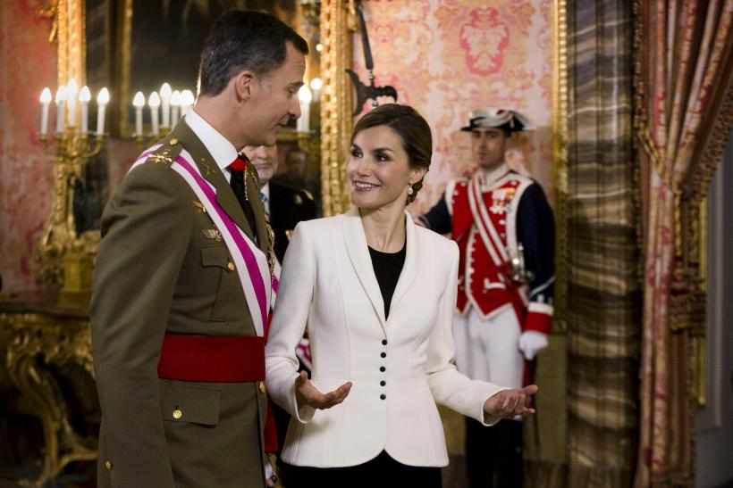 Spain's King Felipe VI and his wife Queen Letizia