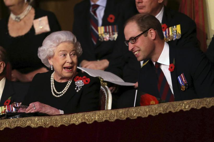 Britain's Queen Elizabeth and Prince William