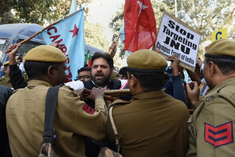 India JNU protests arrest police
