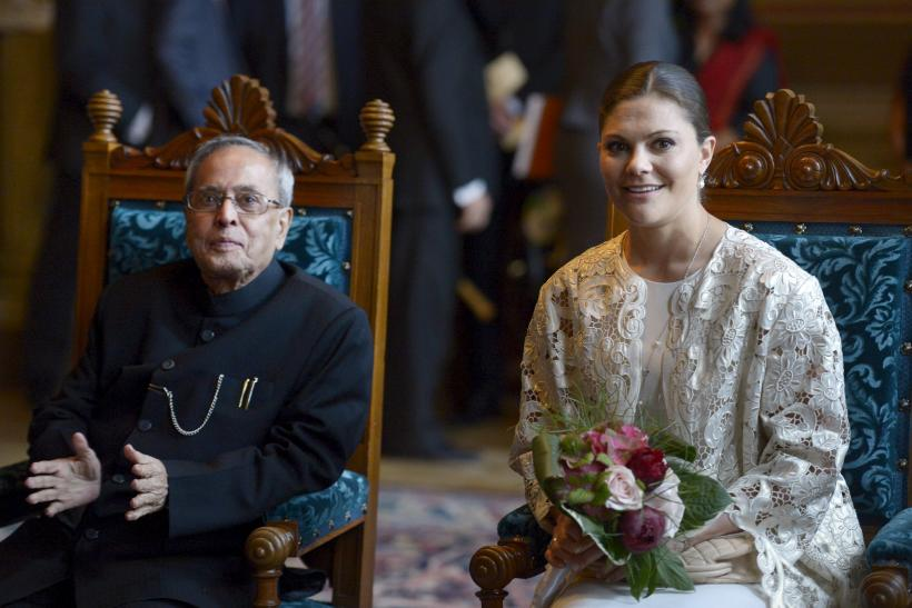 Crown Princess Victoria with the Indian President