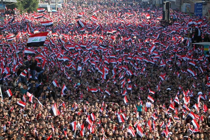 Baghdad Protest Tahrir Square, Corruption, Reforms Iraq