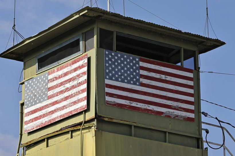 A guard tower at Guantanamo Bay, Cuba.