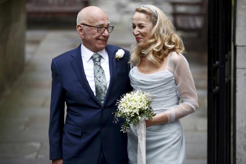 Rupert Murdoch and Jerry Hall.