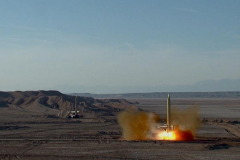 A ballistic missile is launched from inside Iran.