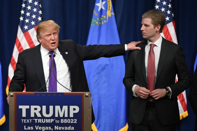 Donald Trump with son