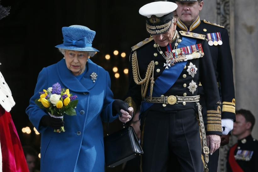Britain's Queen Elizabeth and Prince Philip
