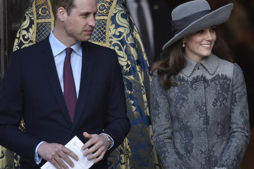 Britain's Prince William and his wife Catherine